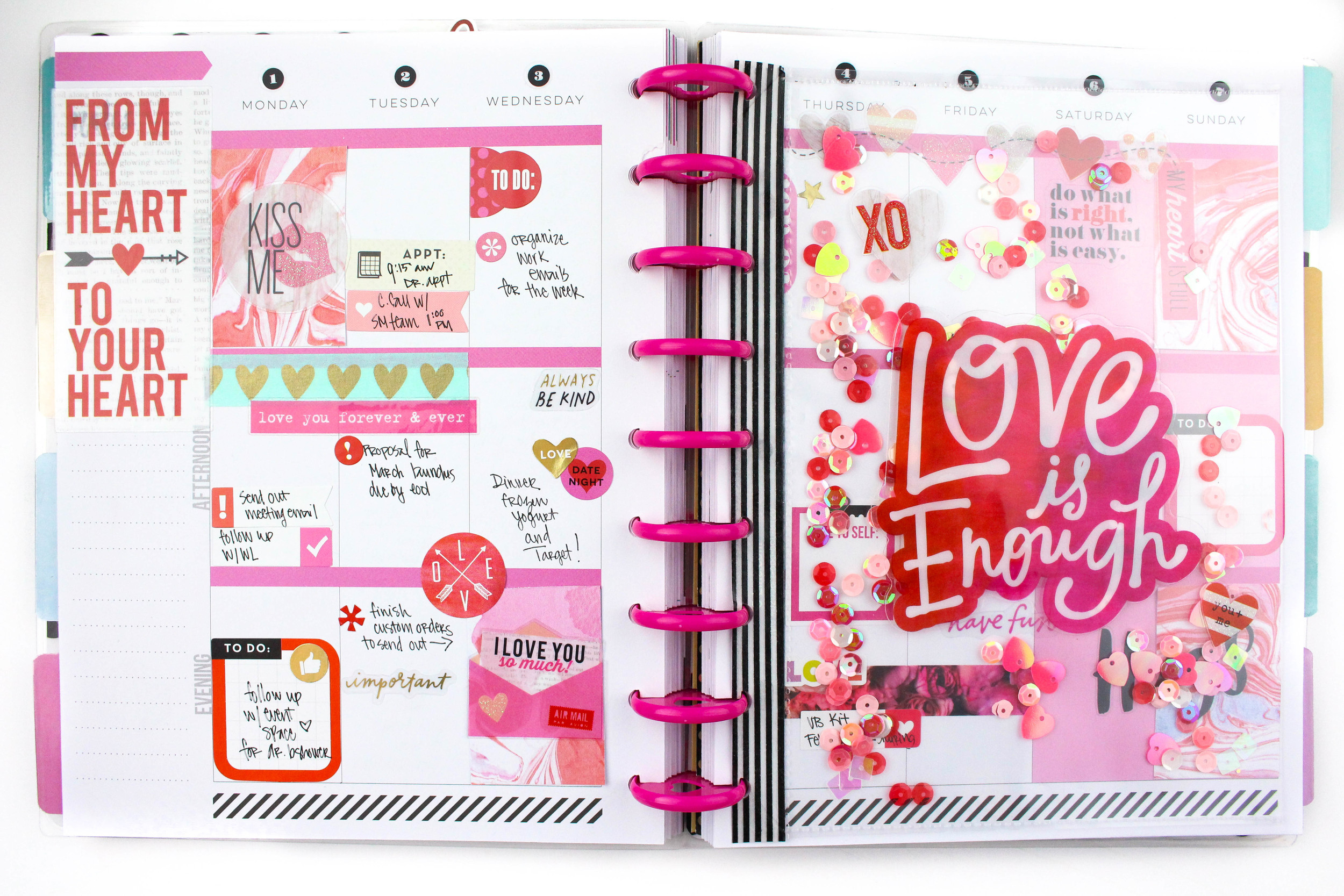 'Love is Enough' shaker pocket in The Happy Planner™ of mambi Design Team member Tiffany Ross | me & my BIG ideas