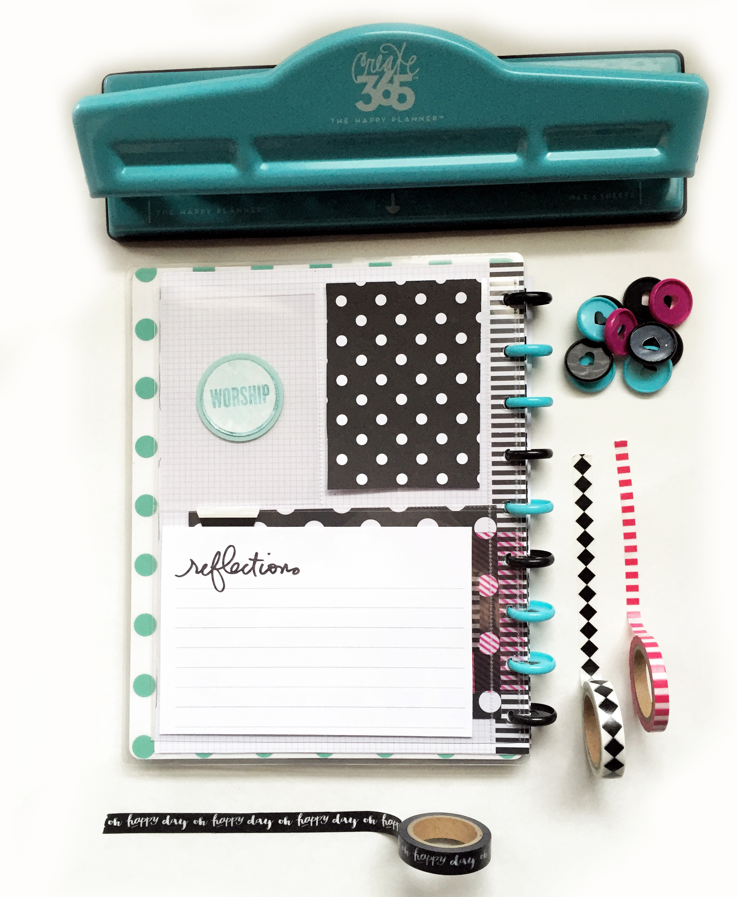 a February 'focus word' mini disc book created by mambi Design Team member Casie Gutierrez   me & my BIG ideas