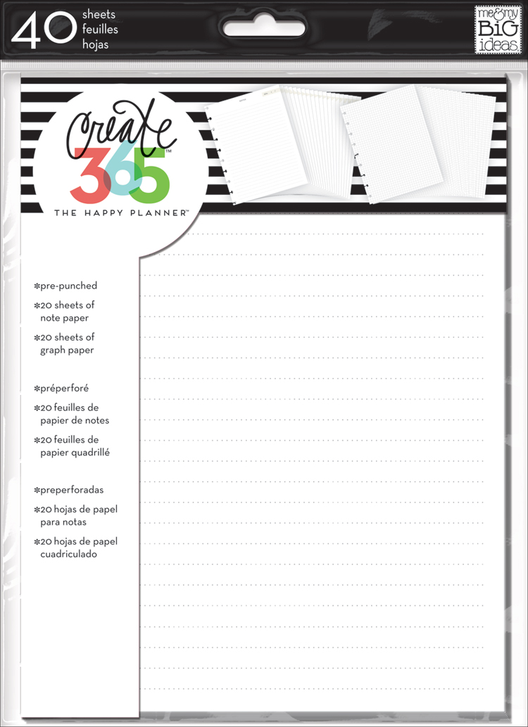 Note & Graph Paper Extension Pack for The Happy Planner™   me & my BIG ideas.jpg