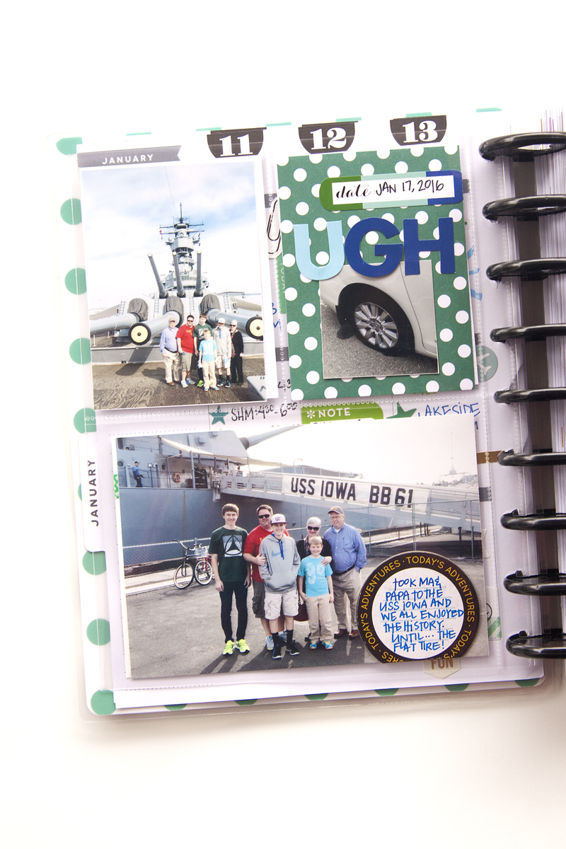 using The Happy Planner™ as a 'Year in the Life' album by mambi Design Team member Jennie McGarvey | me & my BIG ideas