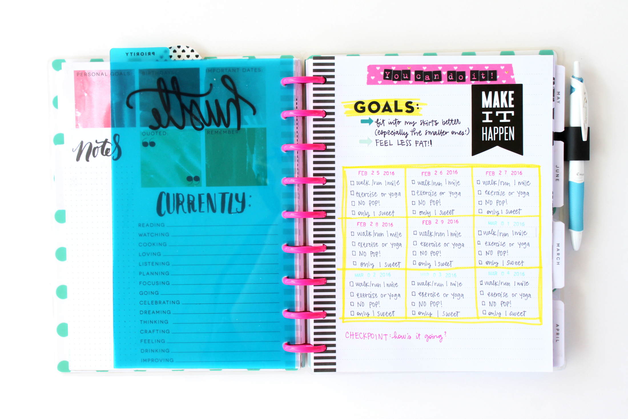 a DIY Fitness Planner in The Happy Planner? of mambi Design Team member Heather Adams | me & my BIG ideas