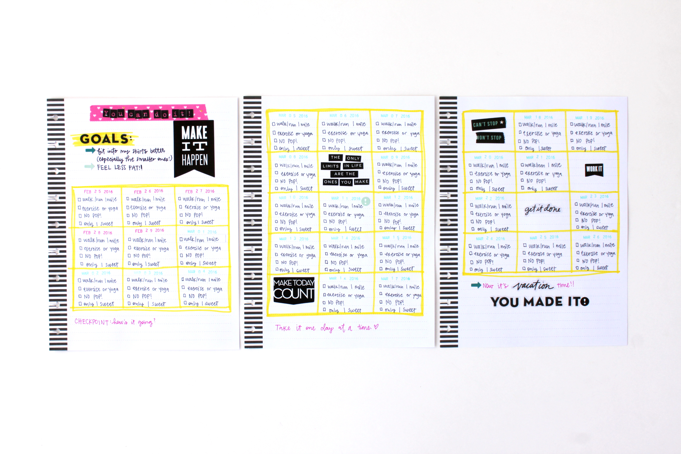 a DIY Fitness Planner in The Happy Planner? of mambi Design Team member Heather Adams   me & my BIG ideas
