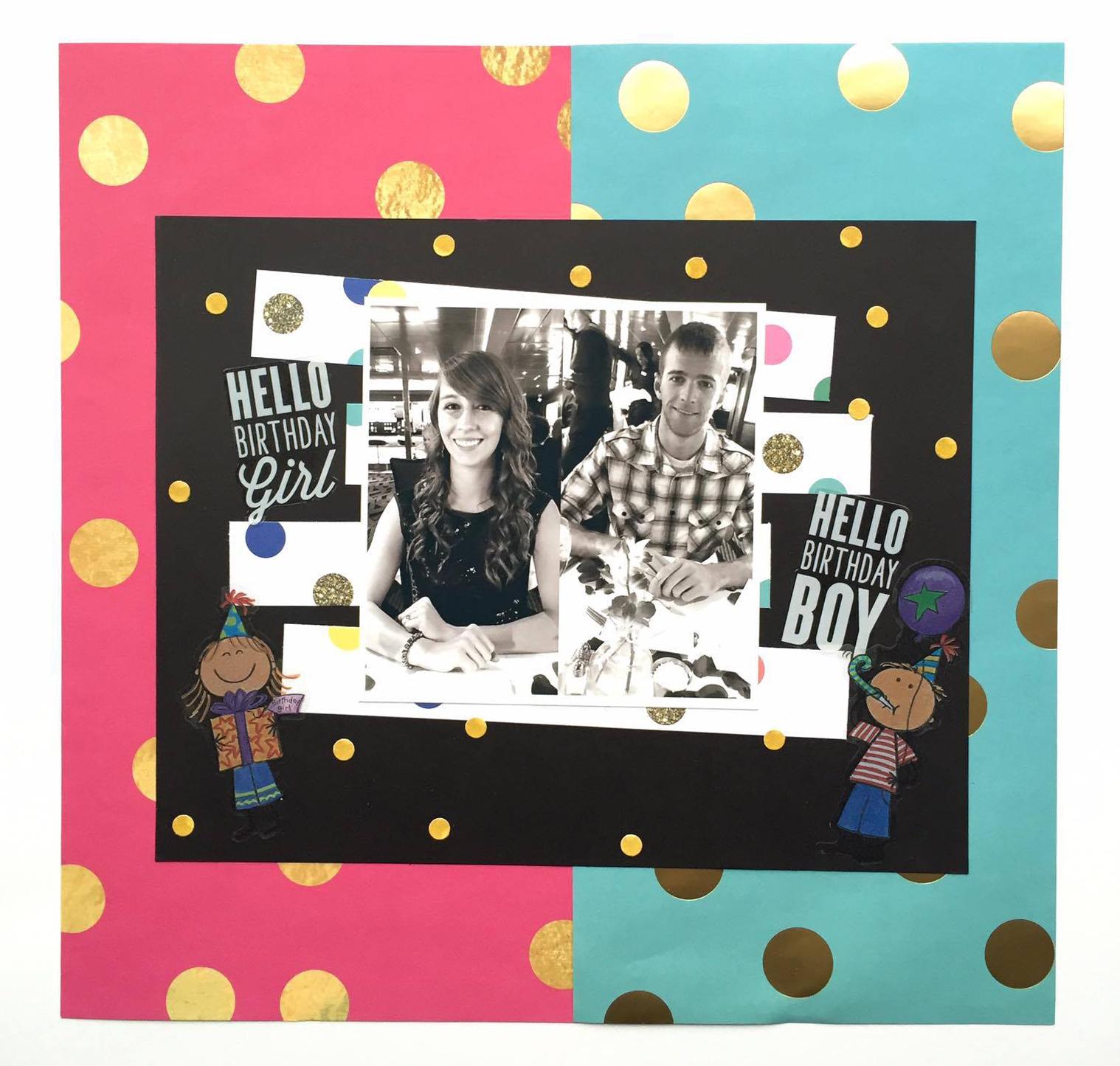 birthday month scrapbook page & a throwback by mambi Design Team member Megan McKenna | me & my BIG ideas