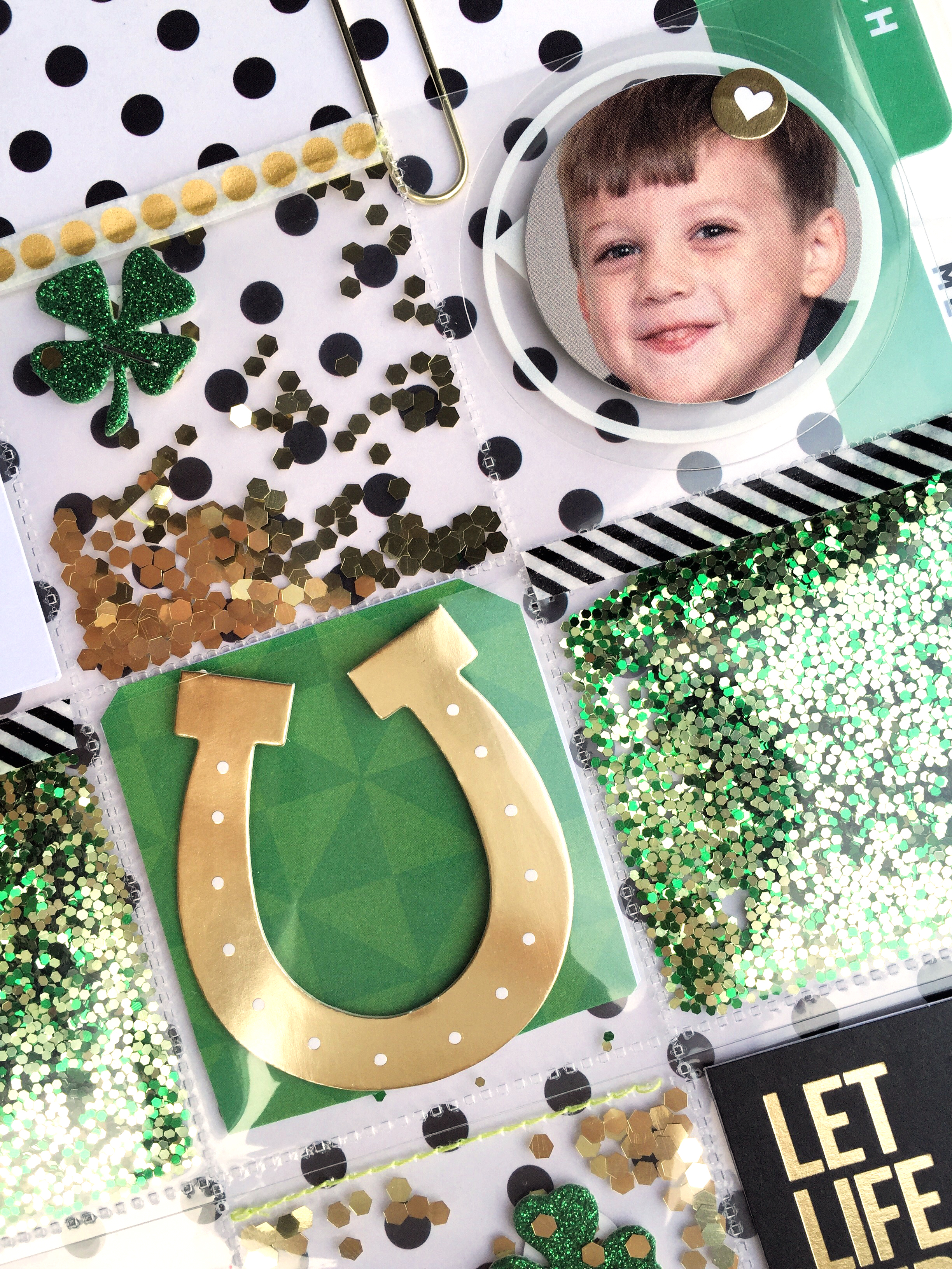 St. Patrick's Day shaker page in The Happy Planner™ of mambi Design Team member Casie Gutierrez | me & my BIG ideas