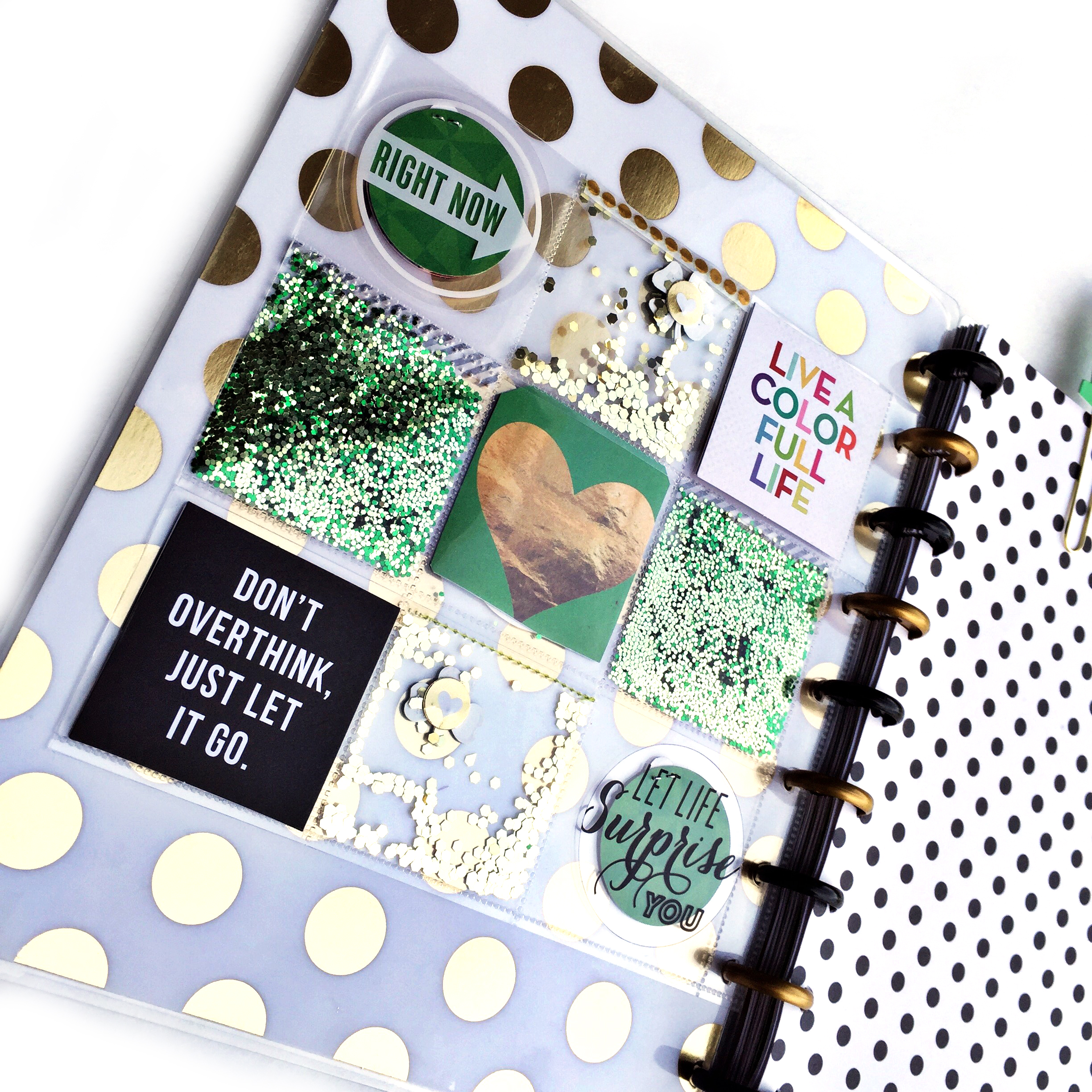 St. Patrick's Day shaker page in The Happy Planner? of mambi Design Team member Casie Gutierrez | me & my BIG ideas