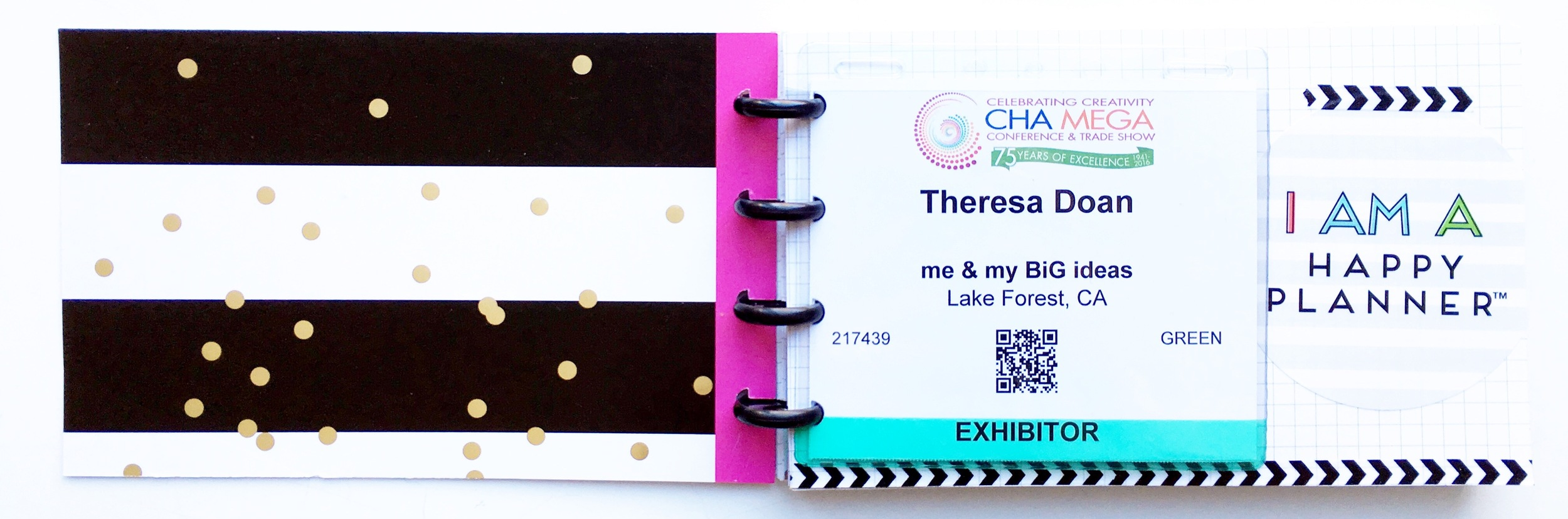 a CHA mini album created by mambi Design Team member Theresa Doan for The Happy Planner™ PUNCH-A-PALOOZA | me & my BIG ideas
