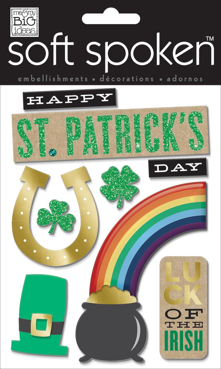 'Happy St. Patricks' SOFT SPOKEN™ dimensional embellishment stickers | me & my BIG ideas.jpg