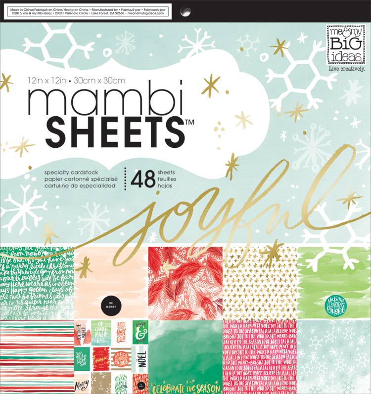 'Joyful Christmas' mambiSHEETS 12x12 paper pad | me & my BIG ideas.jpg