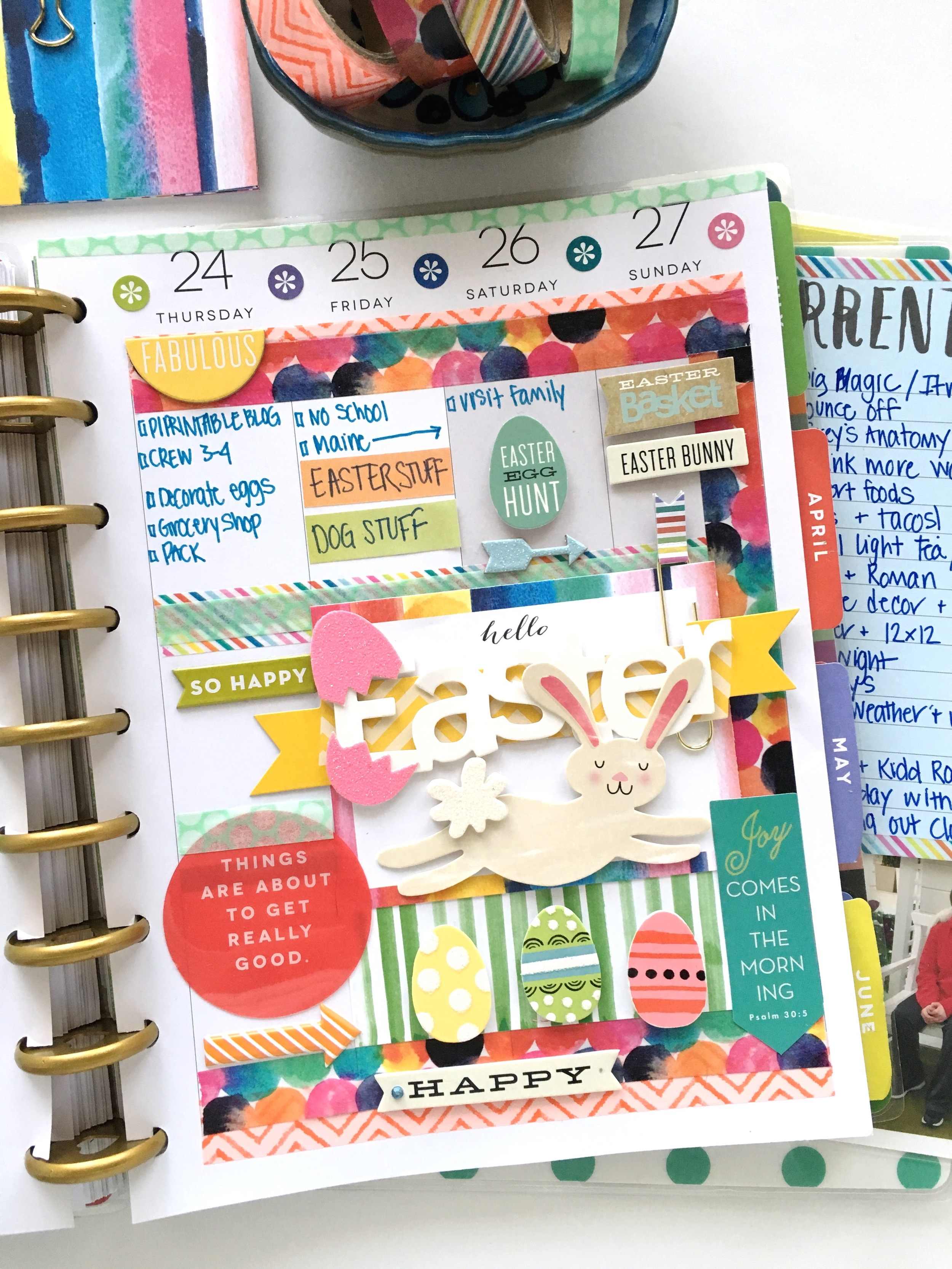Easter weke in The Happy Planner™ of mambi Design Team member Mary-Ann Maldonado | me & my BIG ideas