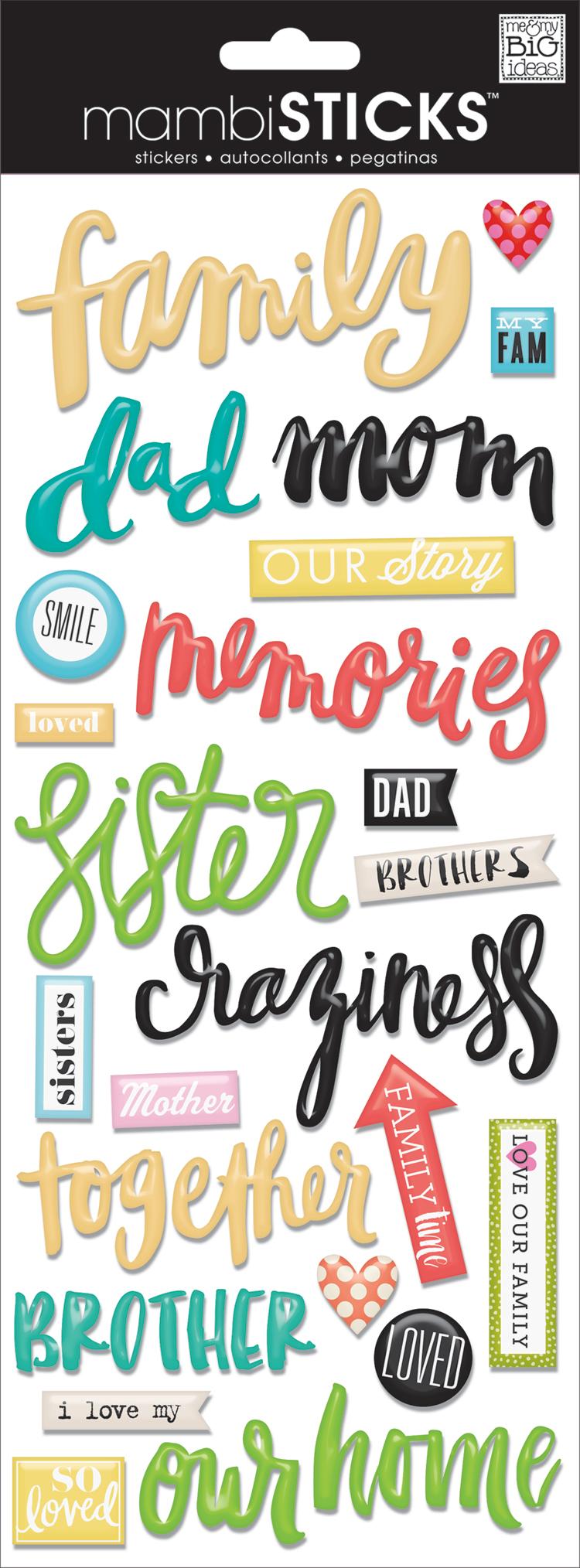 'Family' mambiSHEETS epoxy handwritten word stickers | me & my BIG ideas.jpg