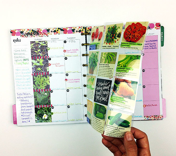 Garden Calendar & Journal in The Happy Planner™ of mambi Design Team member Nicole Lensen | me & my BIG ideas