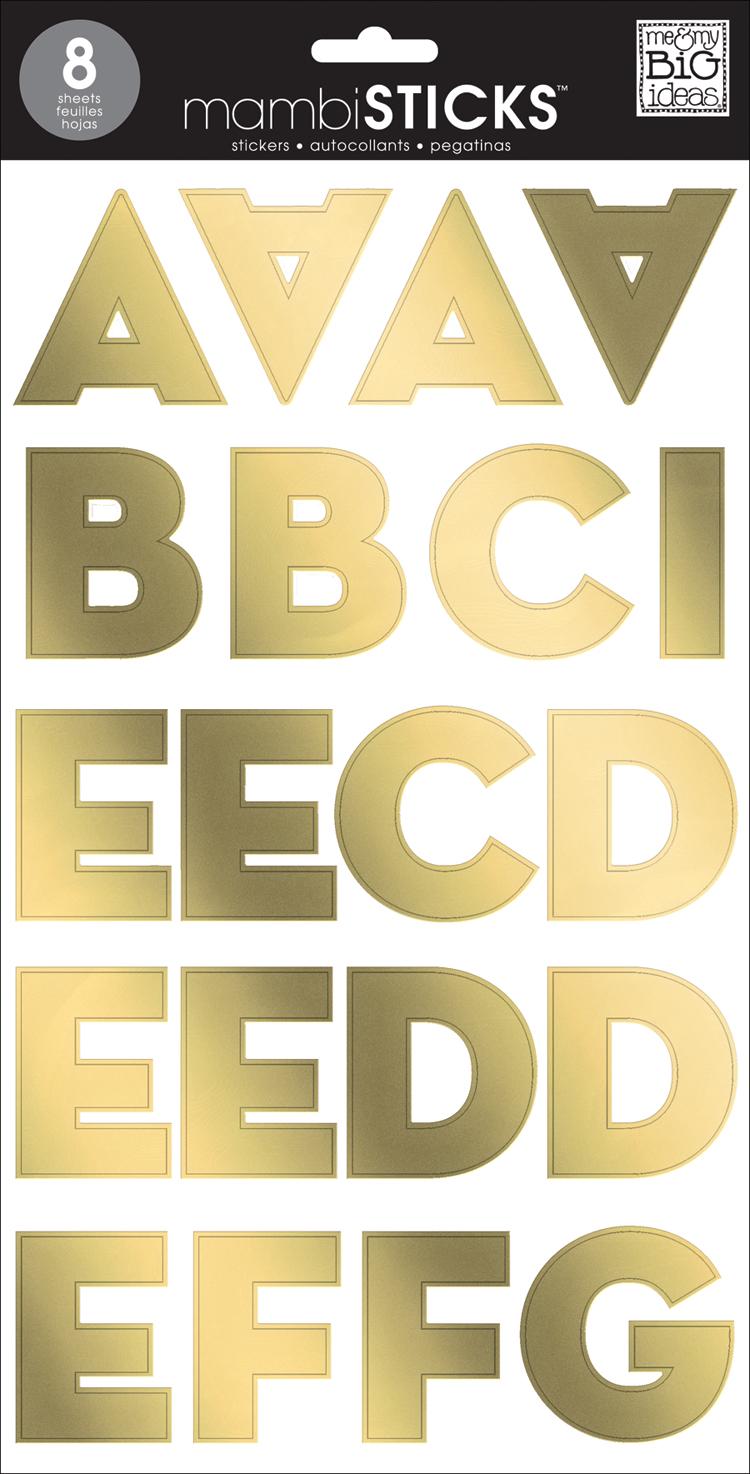 Gold Foil SANS Serif Uppercase mambiSTICKS alphabet stickers | me & my BIG ideas.jpg