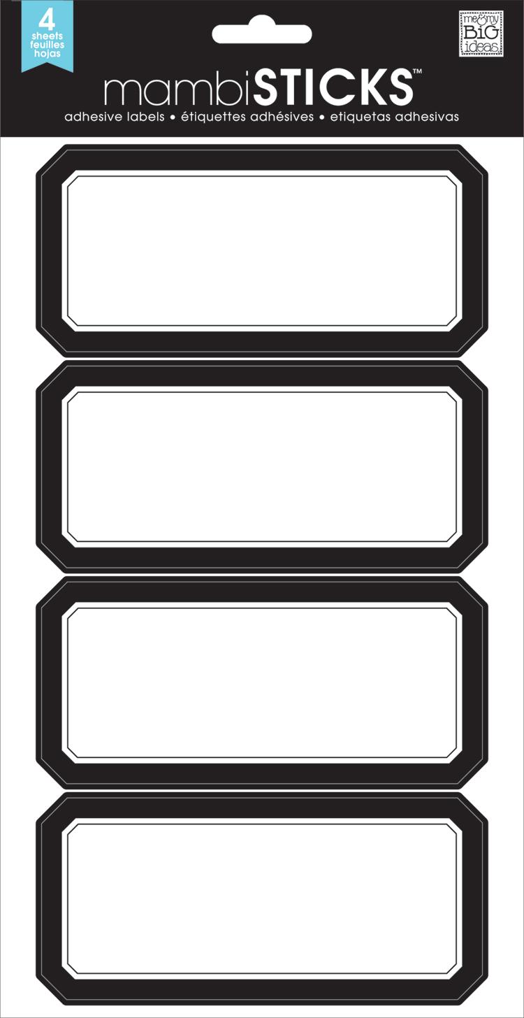 Classic Black adhesiveLABELS | me & my BIG ideas.jpg