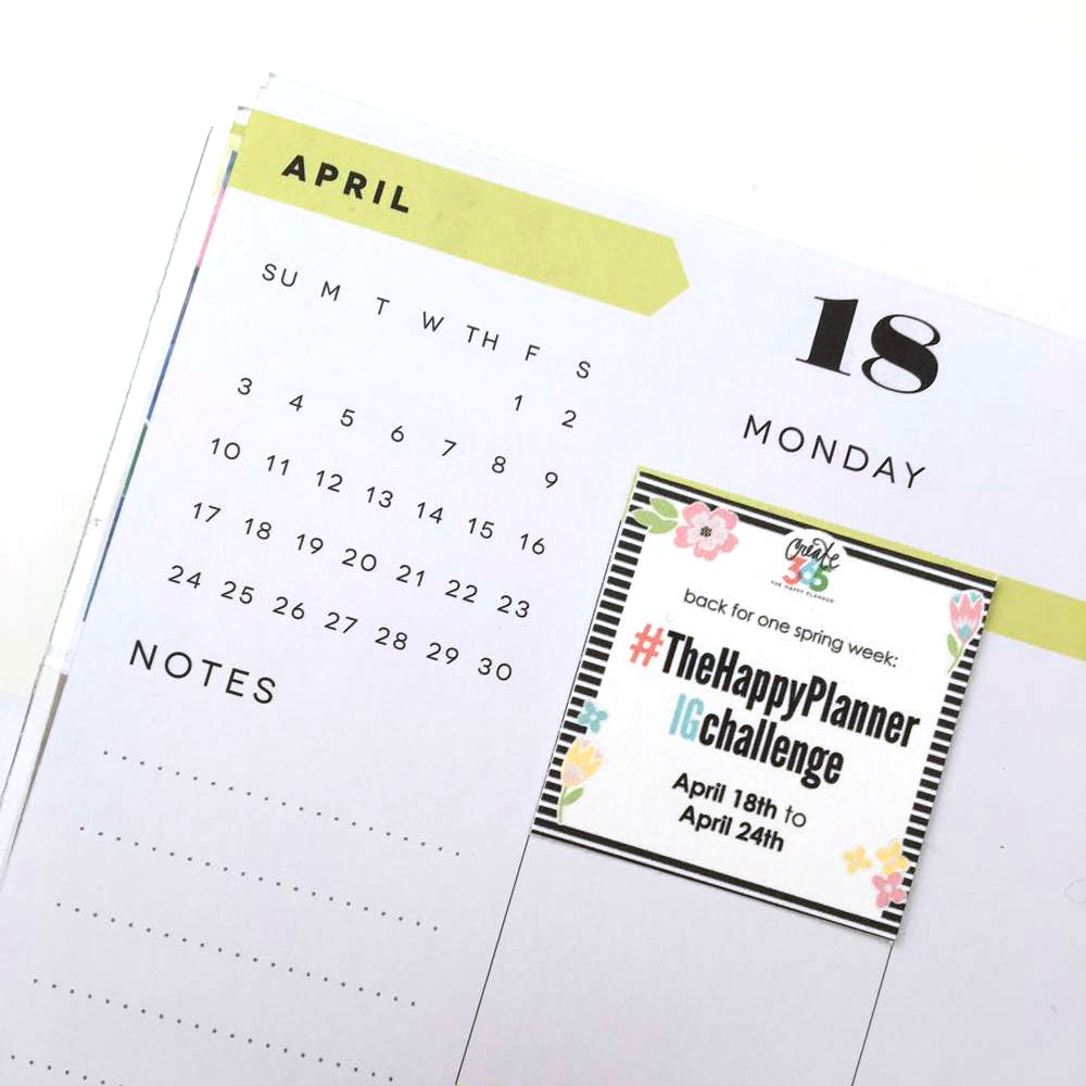#TheHappyPlannerIGchallenge is back for one spring qweek in April with some free printables!!! | me & my BIG ideas