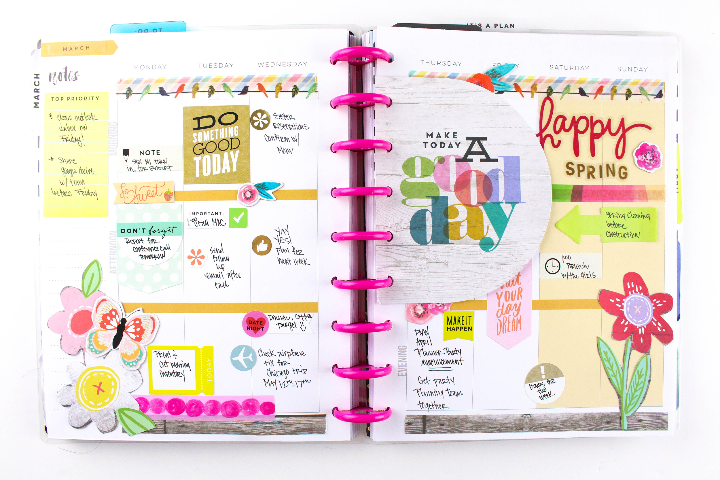 'Happy Spring' week in The Happy Planner™ of mambi Deisgn Team Tiffany Ross   me & my BIG ideas