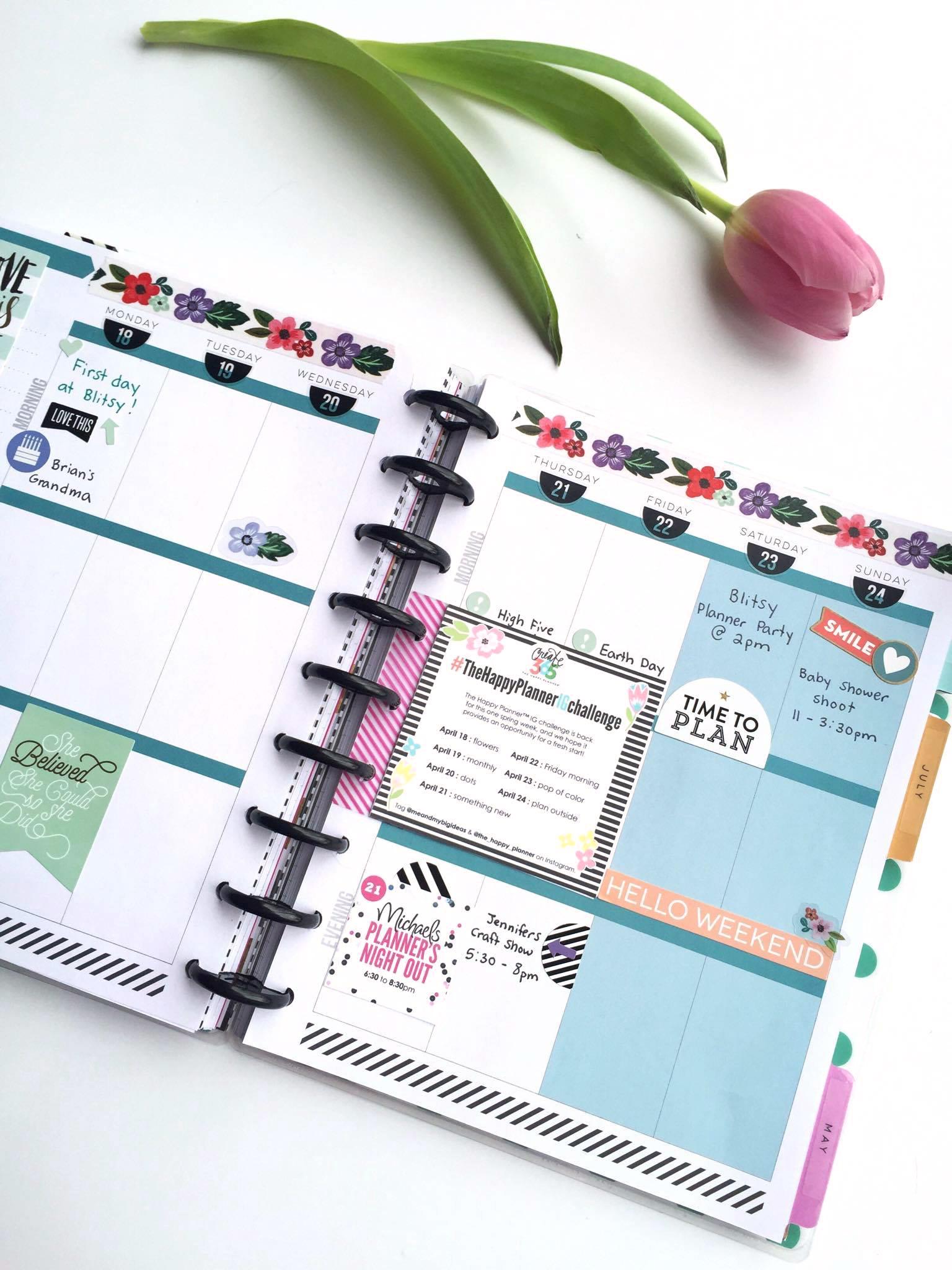 The Happy Planner™ | Spring week setup — me & my BIG ideas