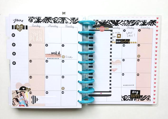 "picture relating to Happy Planner Monthly Layout Printable titled The Pleased Plannerâ""¢ 3 weeks of regular spreads me my"
