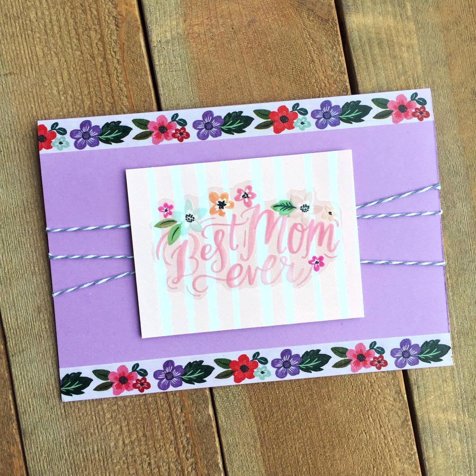 'Best Mom Ever' DIY Mother's Day card by mambi Design Team member Megan McKenna   me & my BIG ideas