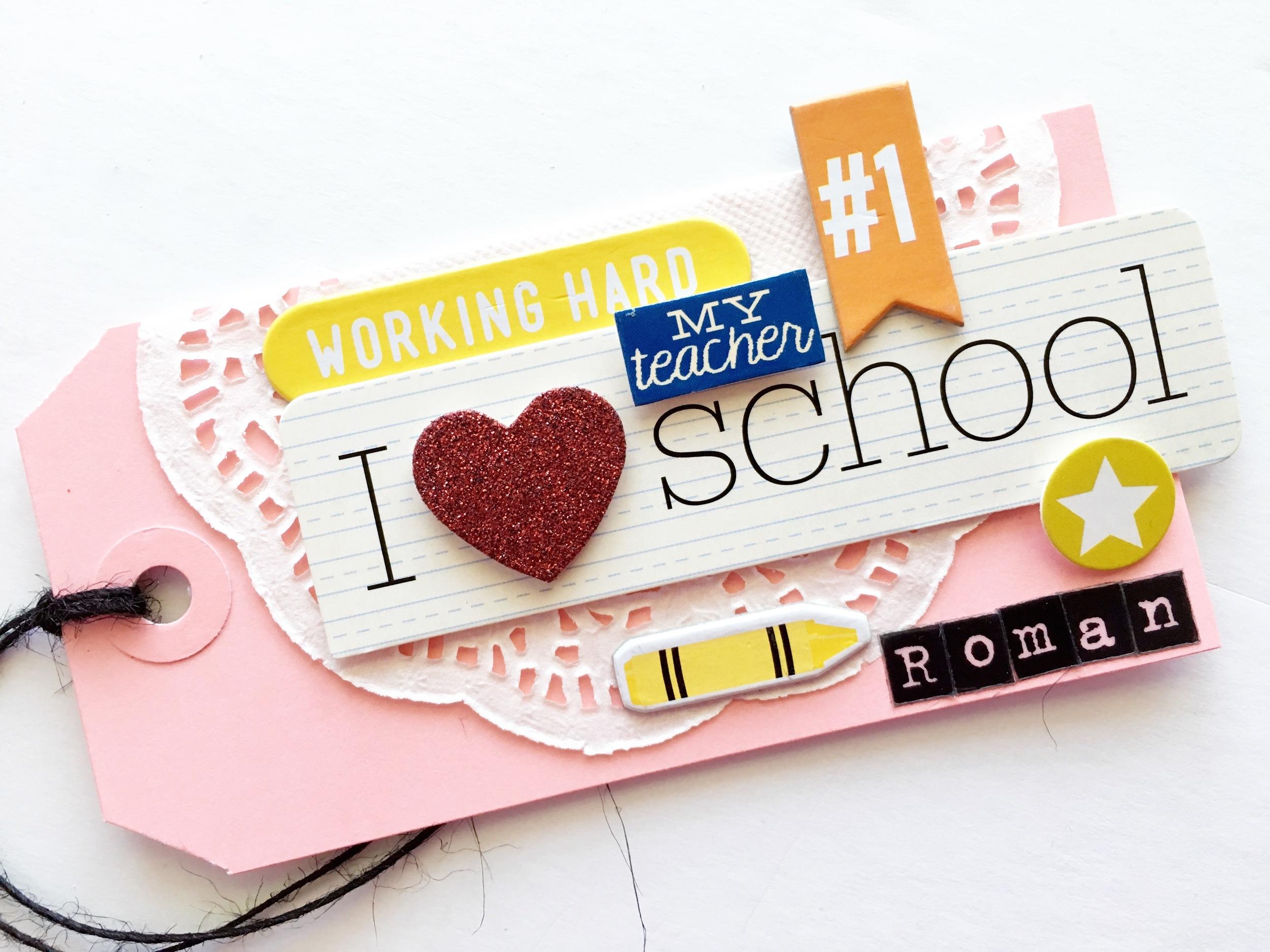 Teacher Appreciation gift wrapping & tags by mambi Design Team member Mary-Ann Maldonado | me & my BIG ideas