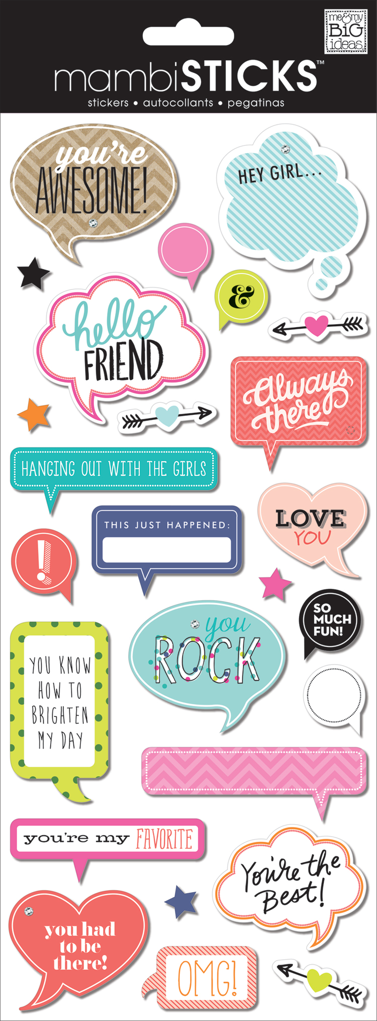 'You're Awesome!' mambiSTICKS chipboard dimensional stickers | me & my BIG ideas.jpg