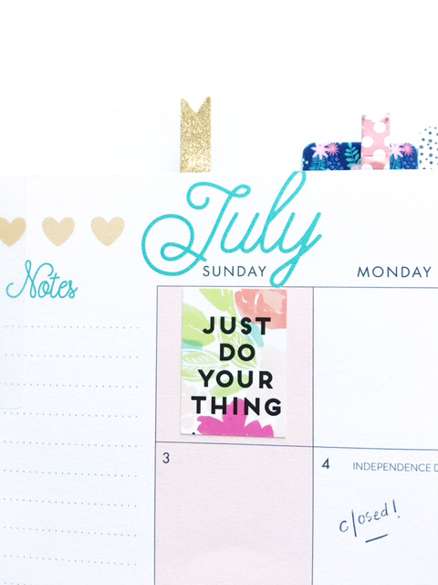 July's Happy Planner™ plan by mambi Design Team member Thuy Bui | me & my BIG ideas