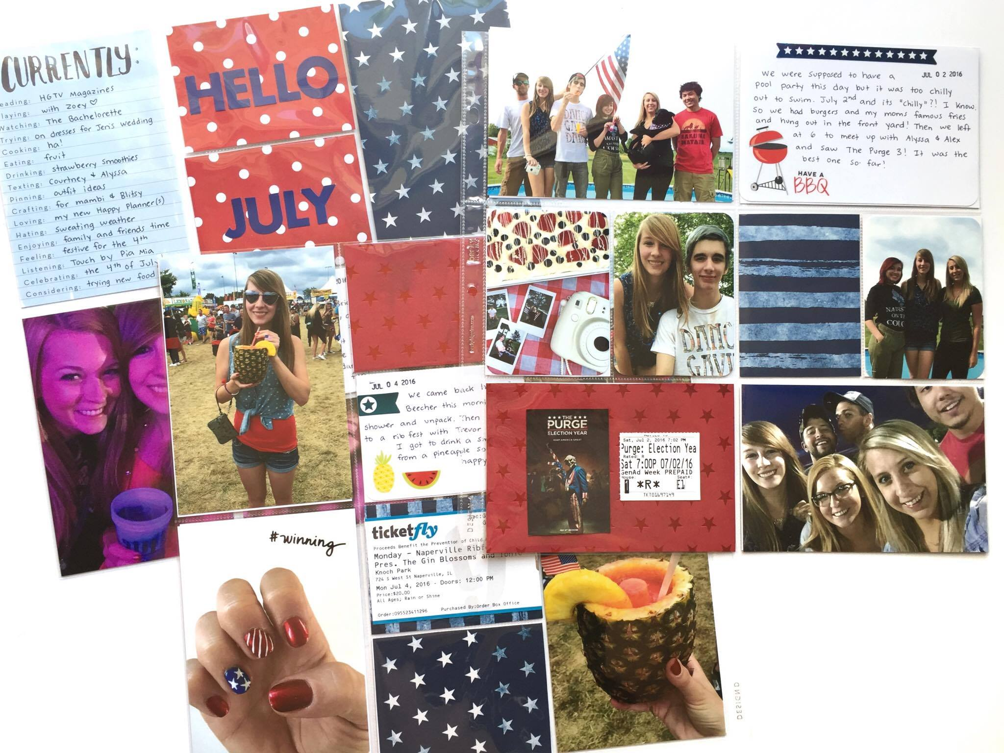 4th of July POCKET PAGES™ w/ Happy Planner™ stickers | me & my BIG ideas