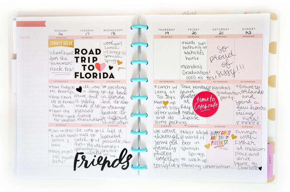 two week of pen-to-paper in The Happy Planner™ of mambi Design Team member Laura Crosby | me & my BIG ideas
