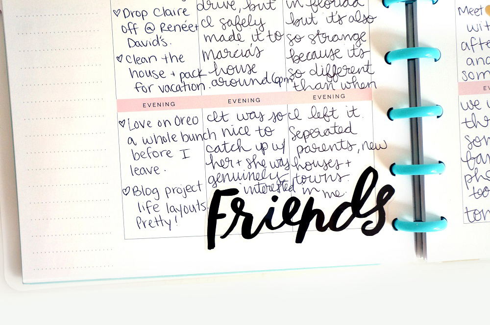 two weeks of pen-to-paper in The Happy Planner™ of mambi Design Team member Laura Crosby | me & my BIG ideas
