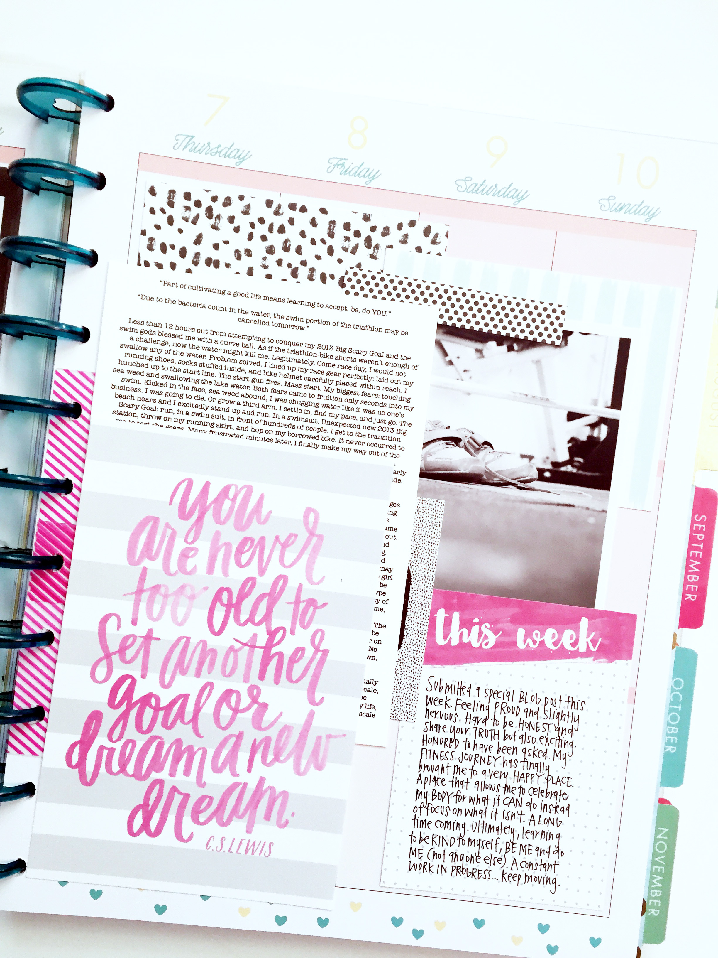 a memory keeping layout in the BIG 'Stay Golden' Happy Planner™ of mambi Design Team member April Orr   me & my BIG ideas