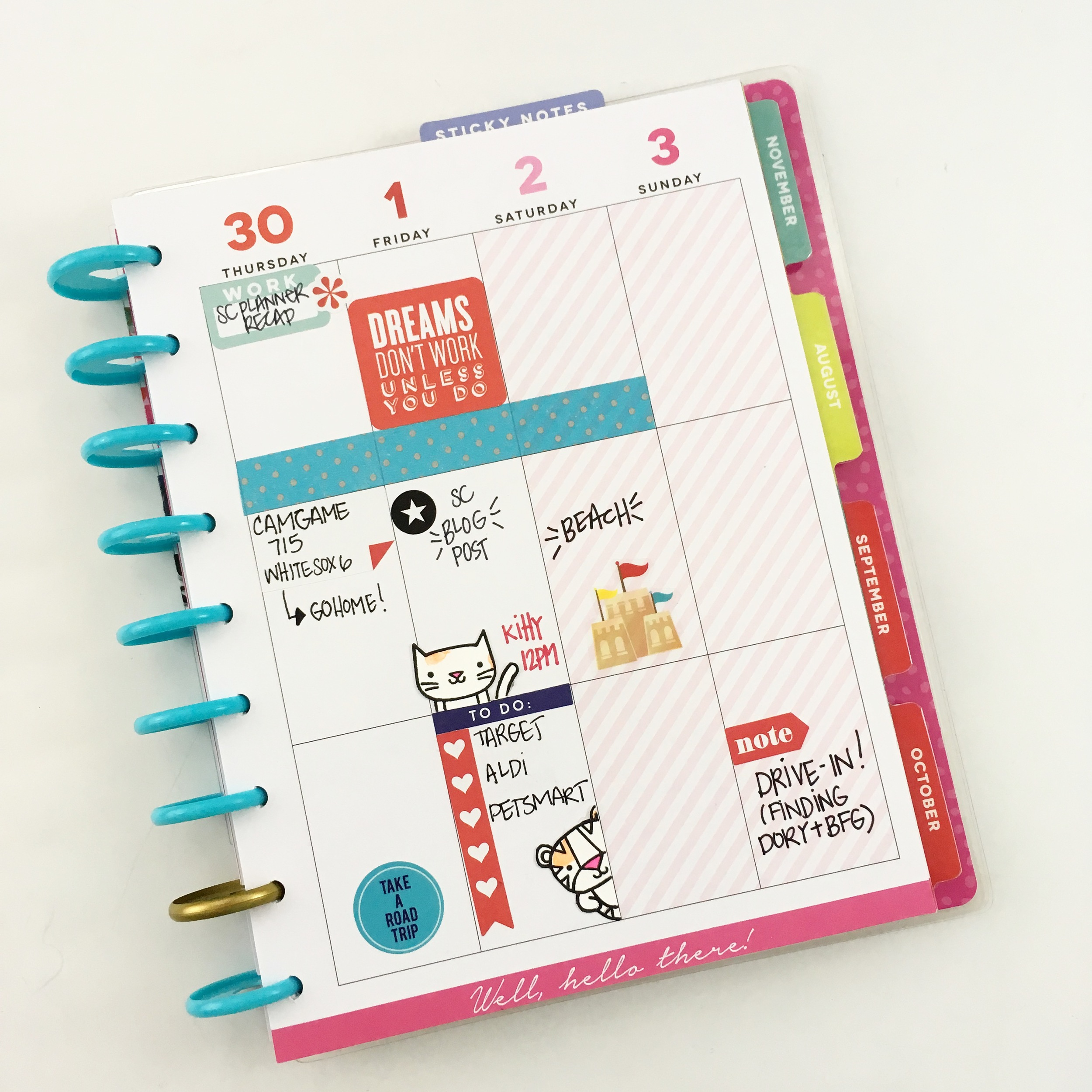planning in the 'Be Bright' Happy Planner™ by mambi Design Team member Jennie McGarvey | me & my BIG ideas