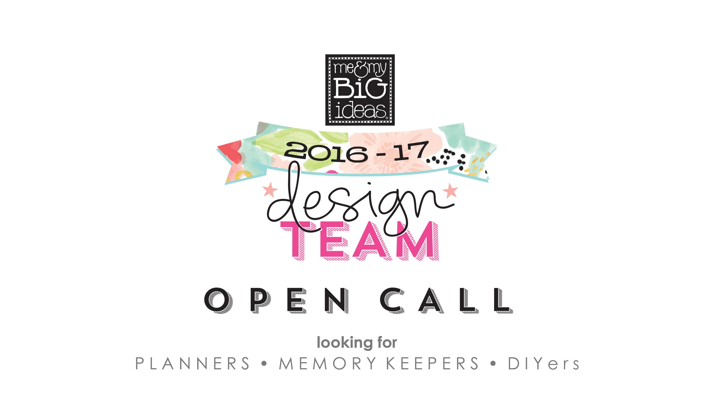 mambi 2016-2017 Design Team OPEN CALL !!! | me & my BIG ideas