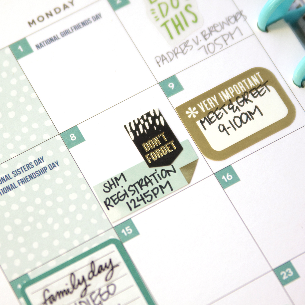 August monthly view in the 'Be Bright' Happy Planner™ of mambi Design Team member Jennie McGarvey | me & my BIG ideas