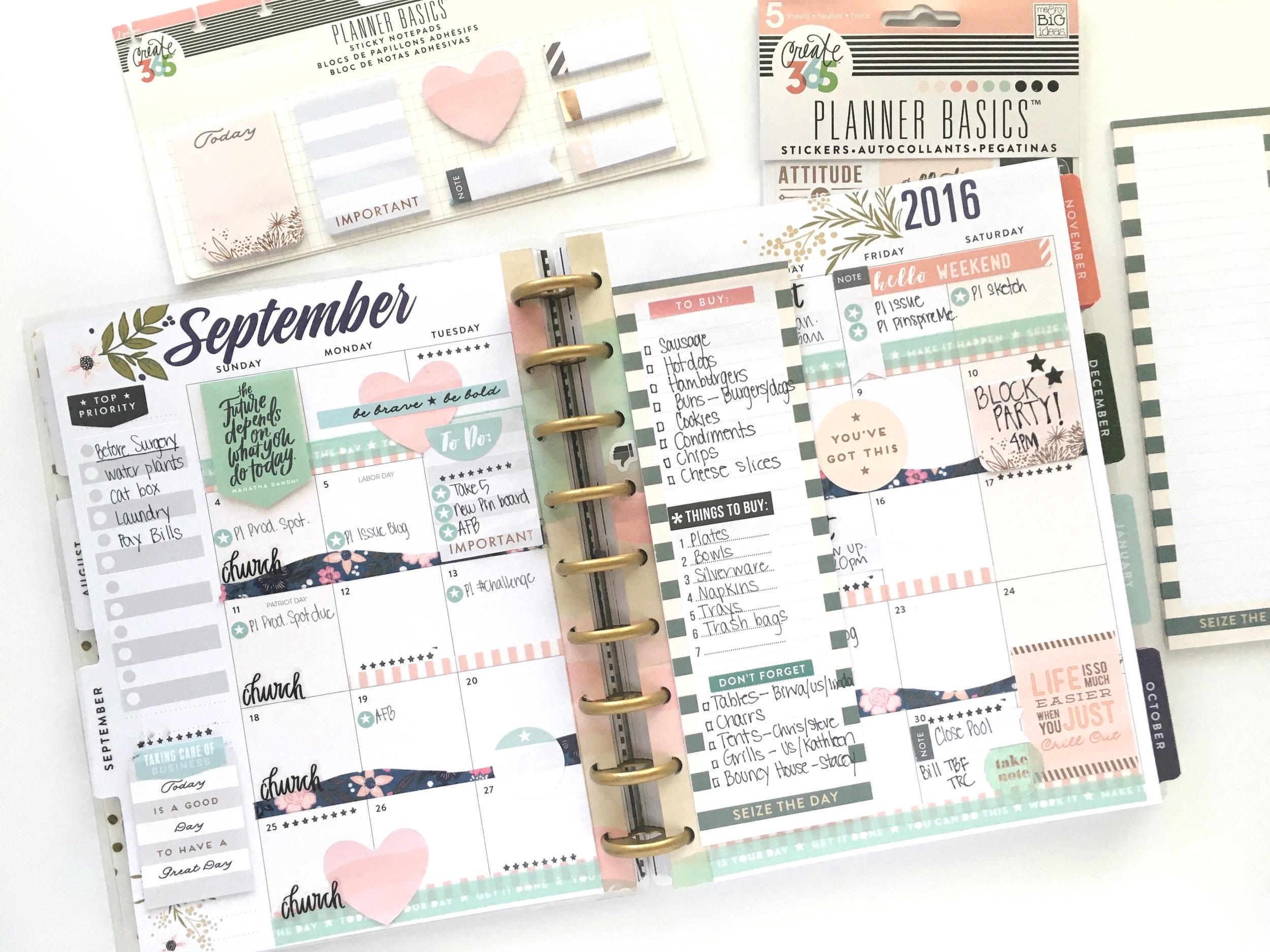 September monthly in the 'Botanical Garden' Happy Planner™ of mambi Design Team member Mary-Ann Maldonado | me & my BIG ideas