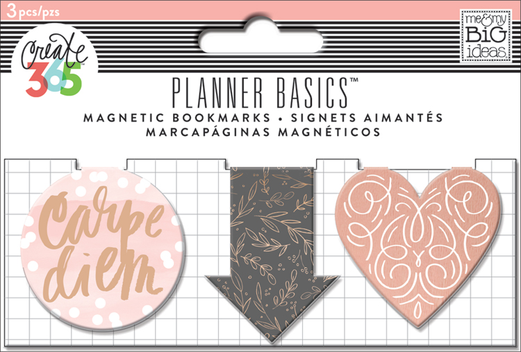 'Rose Gold' Magnetic Bookmarks for The Happy Planner | me & my BIG ideas.jpg