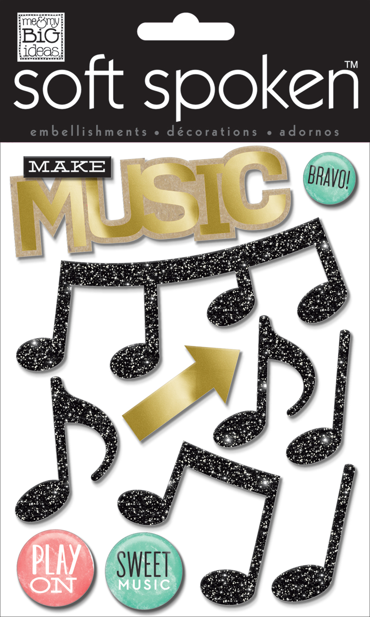 'Music' SOFT SPOKEN™ dimensional stickers | me & my BIG ideas.jpg