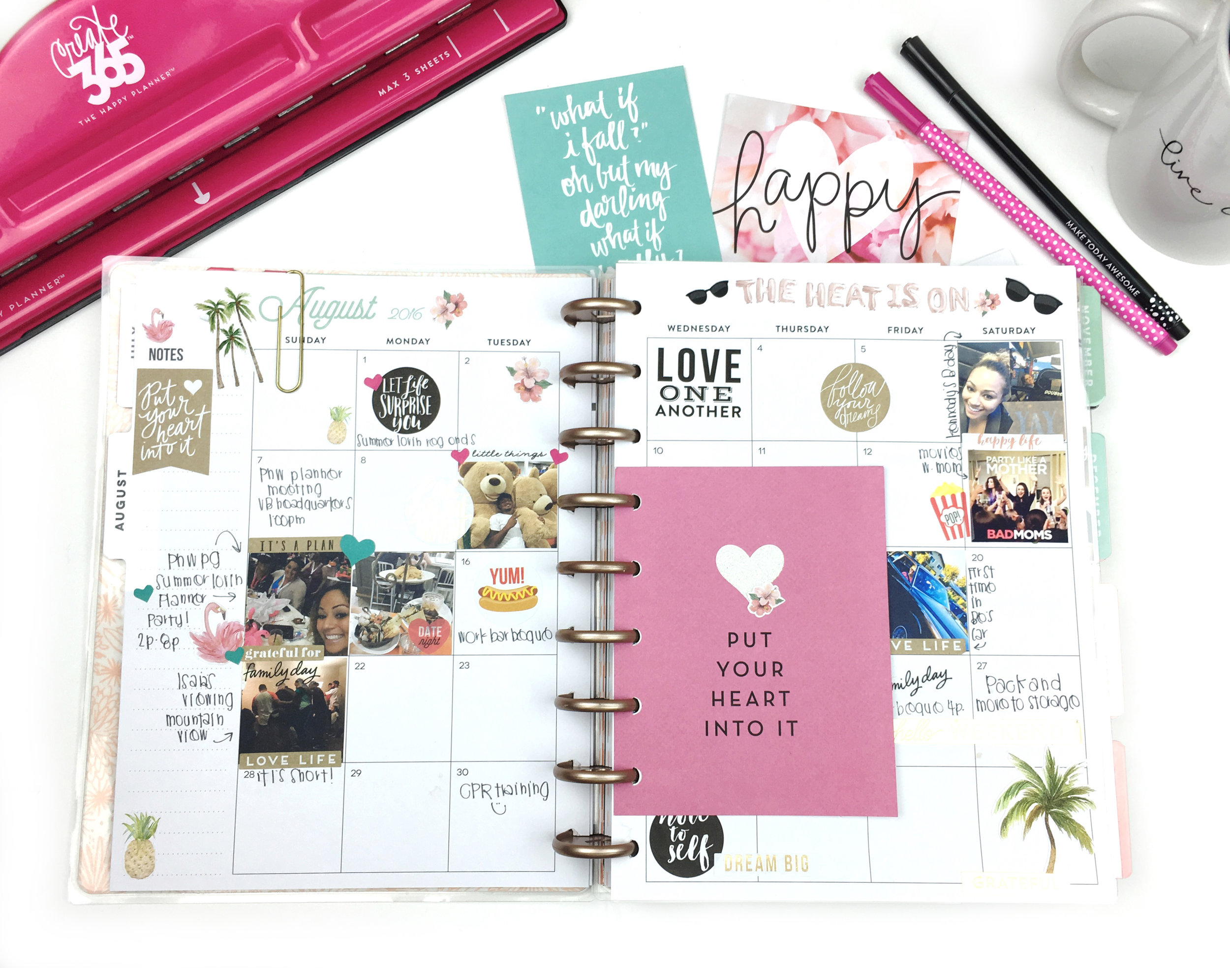 memory planning about PNWPG planner meet-up in the Rose Gold Horizontal Happy Planner™ of mambi Design Team member Chantal Stevens | me & my BIG ideas