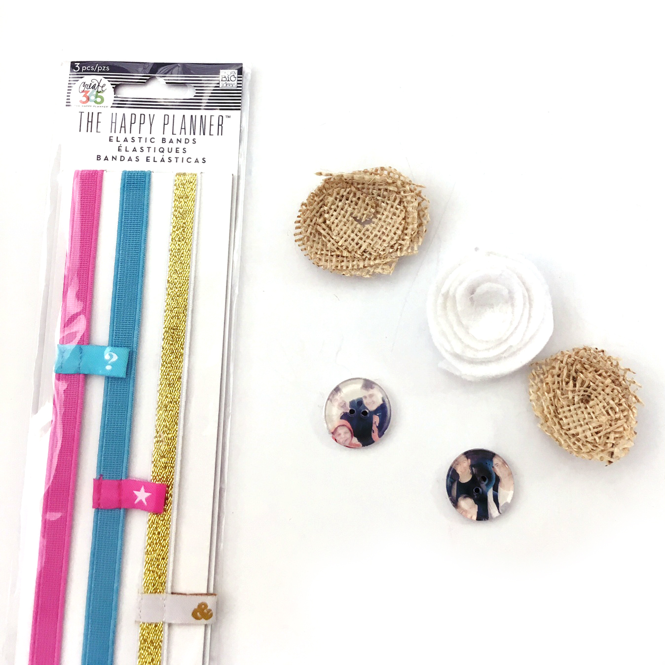 DIY elastic bands for The Happy Planner™ by mambi Design Team member Jennie McGarvey | me & my BIG ideas