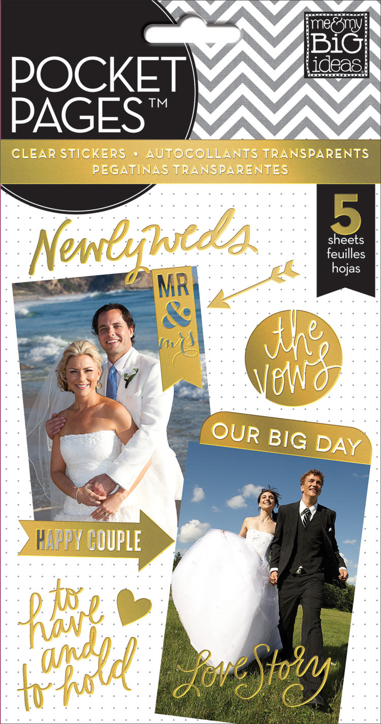 'Our Big Day' POCKET PAGES™ gold foil sticker value pack | me & my BIG ideas.jpg