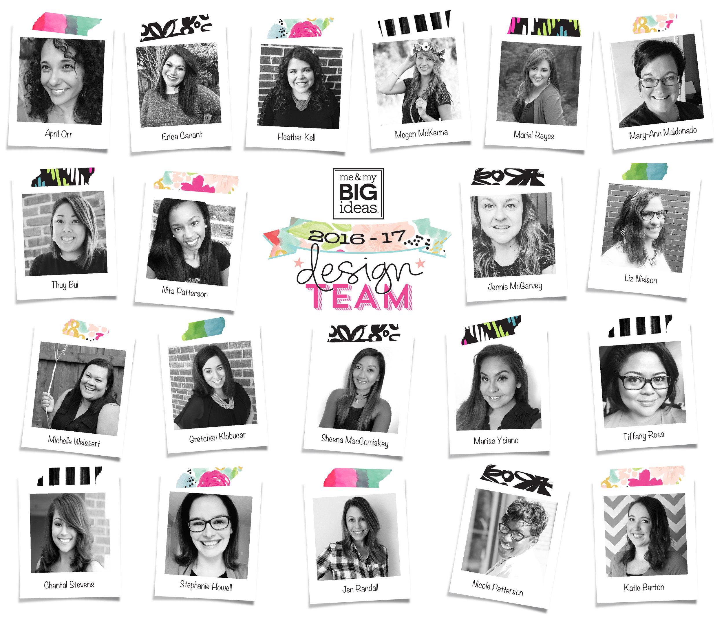 the 2016-2017 mambi Design Team | me & my BIG ideas