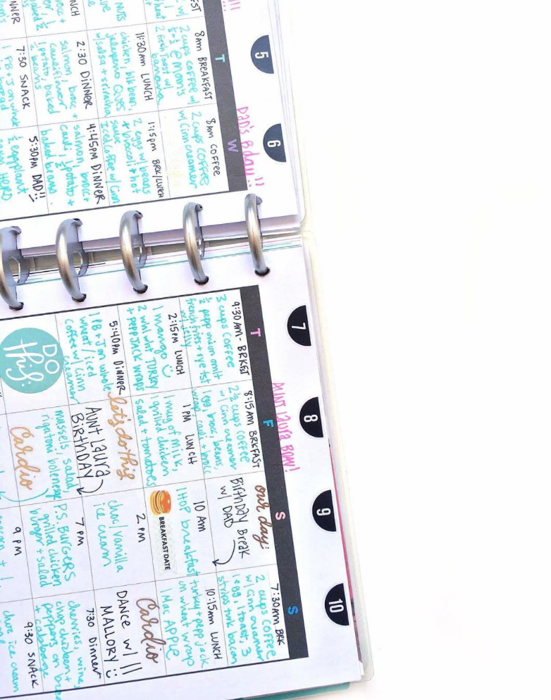 finding a rhythm w/ The Happy Planner™ Fitness Planner of mambi Social Media Coordinator Amanda Rose Zampelli   me & my BIG ideas