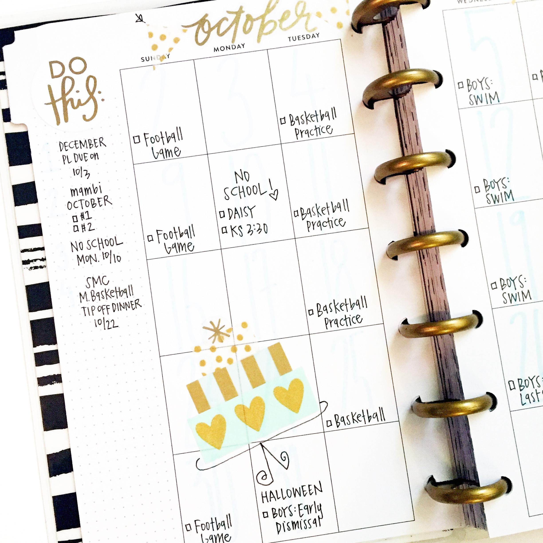 October in the new 'Get it Girl' black & white MINI Happy Planenr™ of mambi Design Team member April Orr   me & my BIG ideas