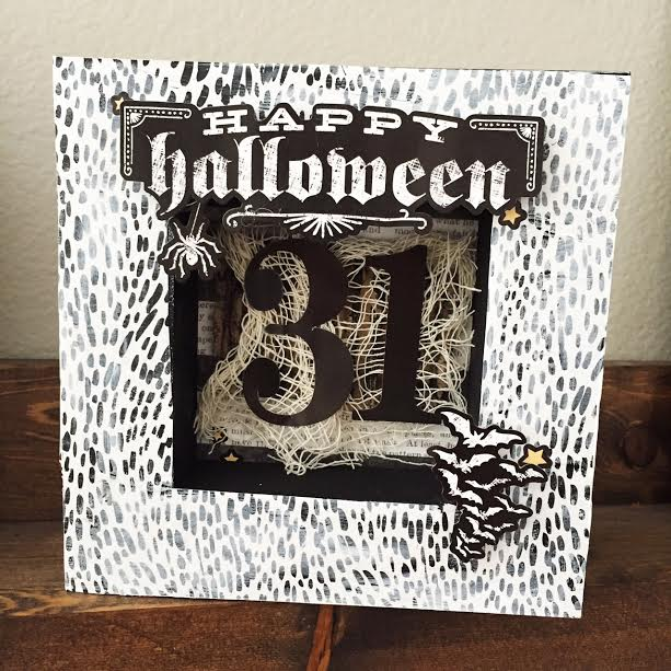 'Happy Halloween' Home Decor by mambi Design Team member Jen Randall | me & my BIG ideas