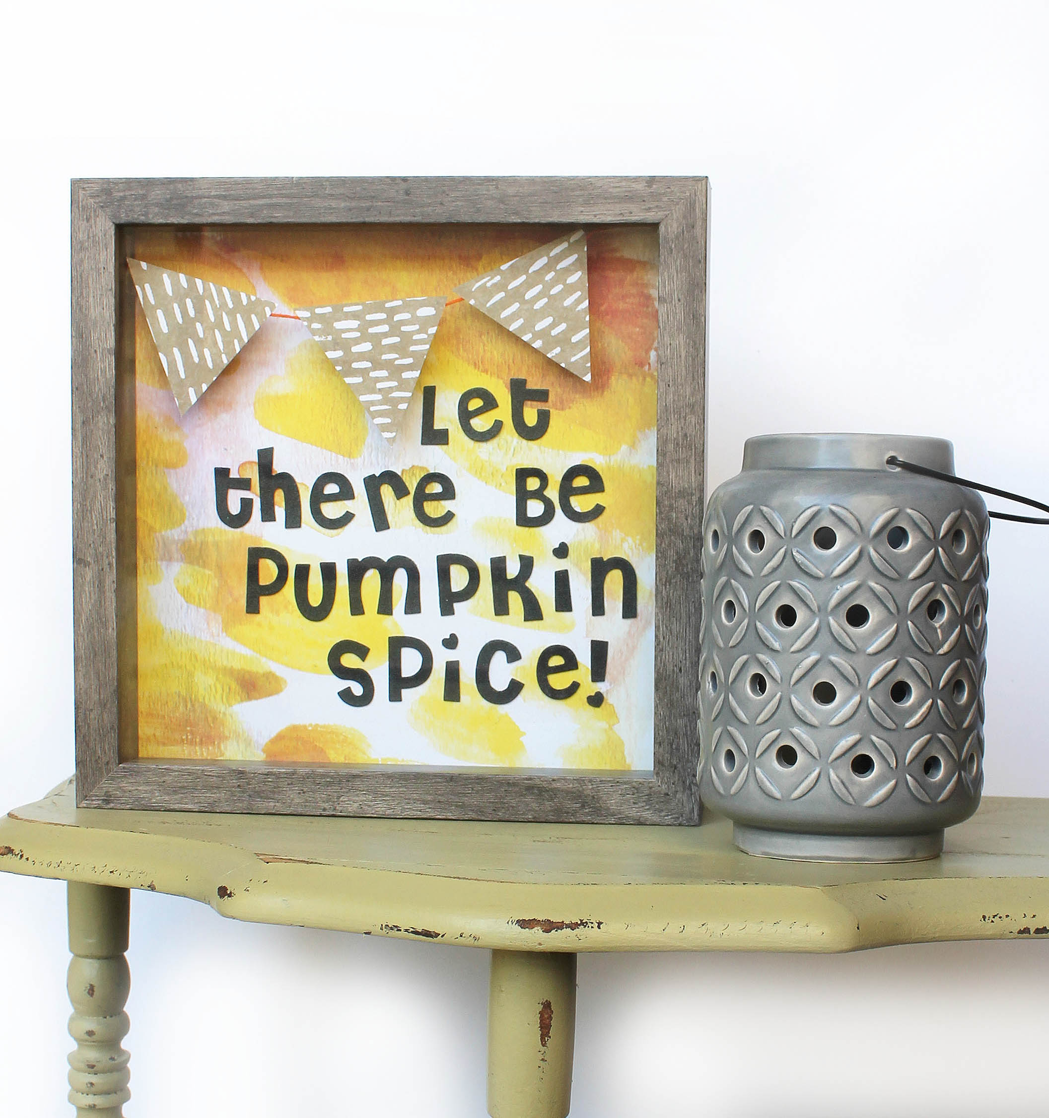 'Pumpkin Spice' Shadow Box by mambi Design Team member Katie Barton | me & my BIG ideas