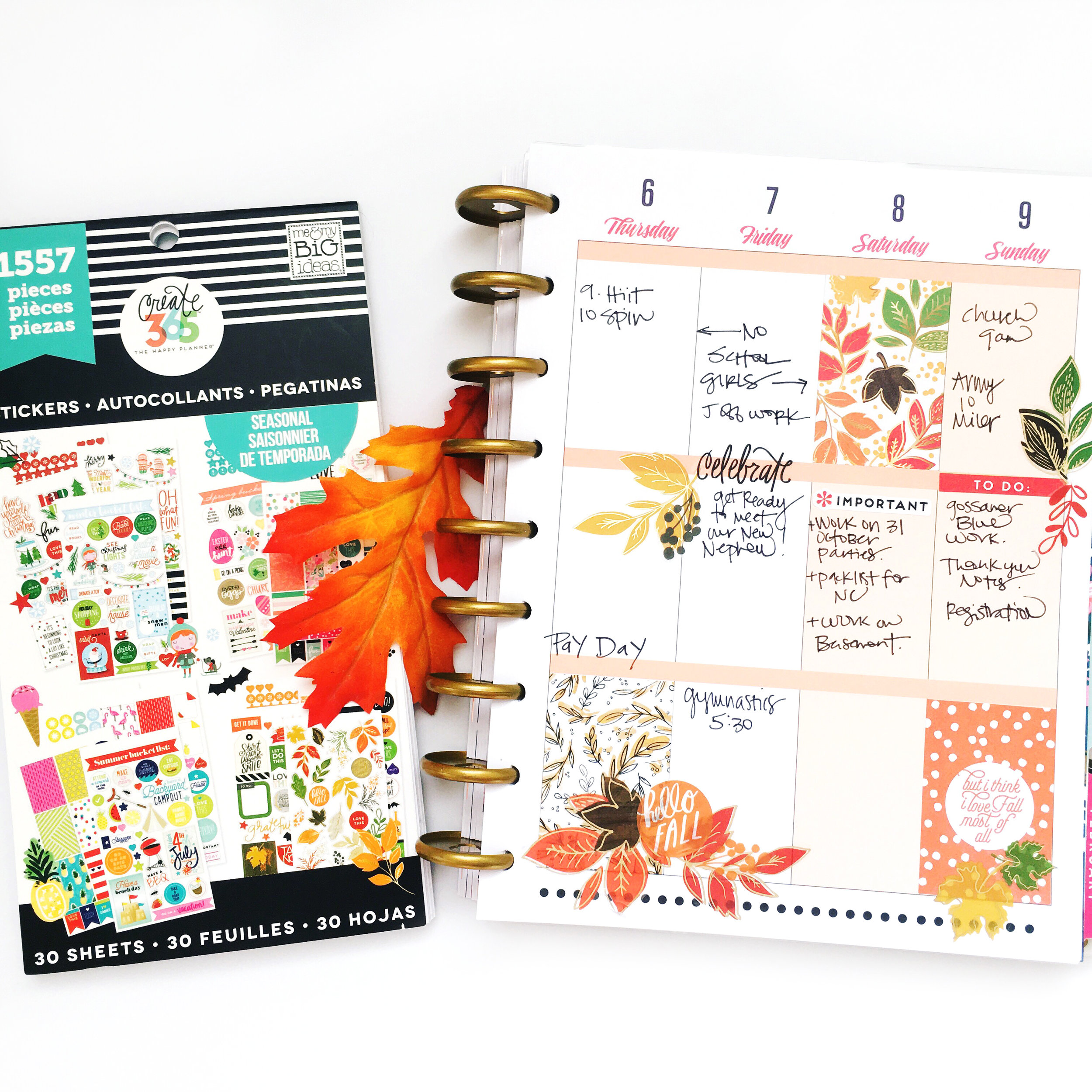 celebrating Fall w/ our 'Seasonal' stickers — me & my BIG ideas