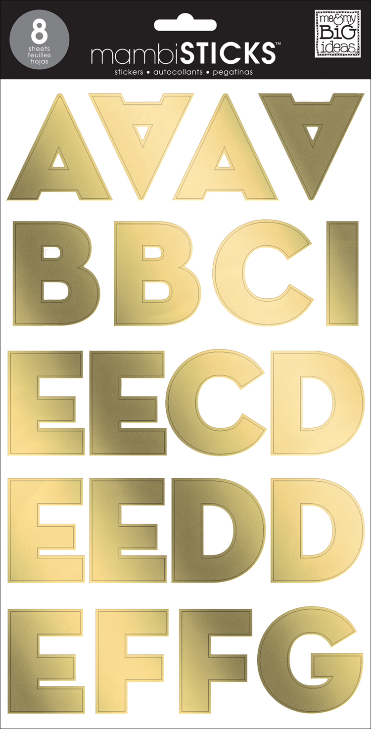 Gold Foil SANS Serif Uppercase mambiSTICKS alphabet stickers | me & my BIG ideas.jpg