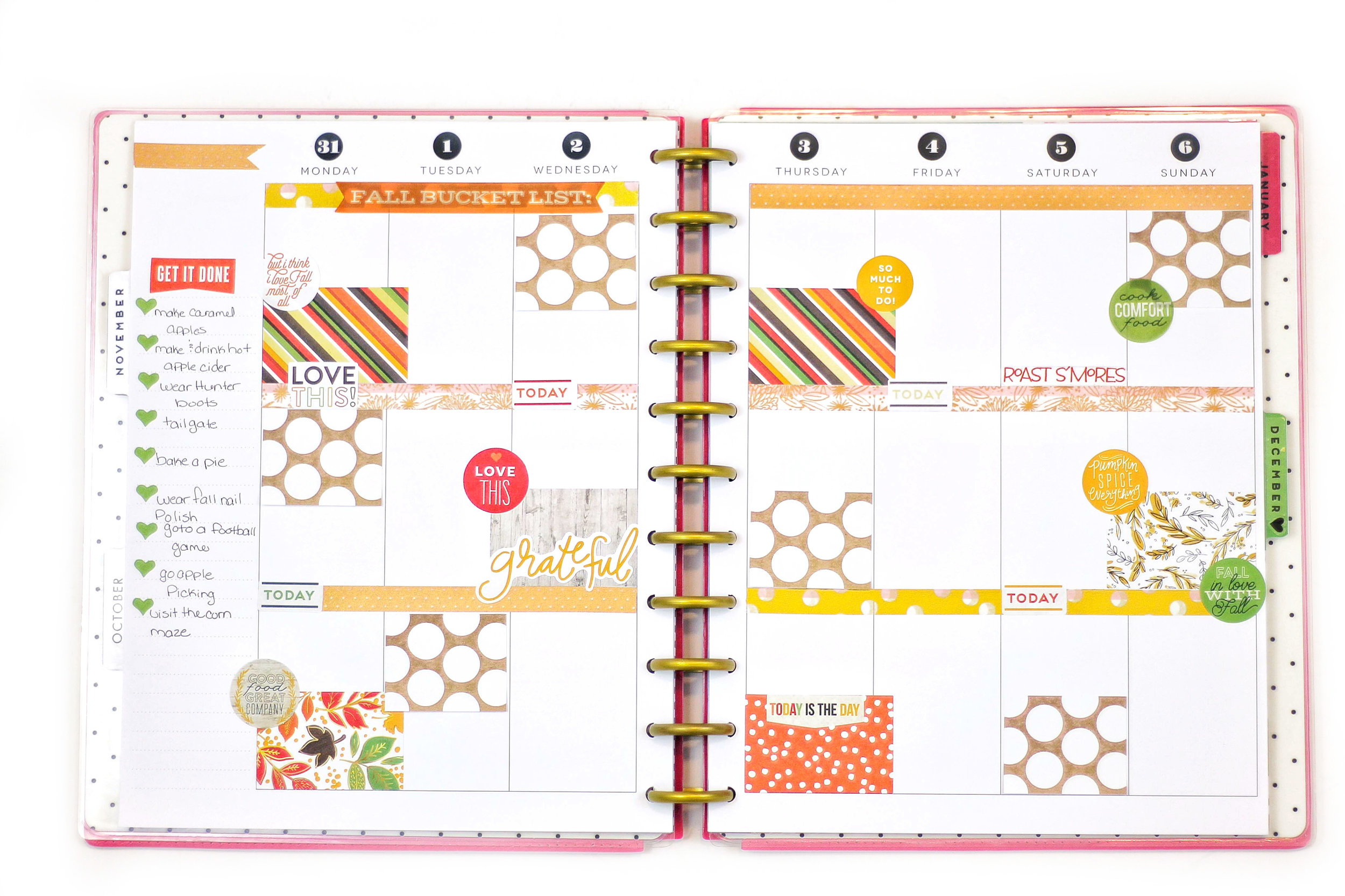 'Fall Bucket List' #beforethepen in the BIG Happy Planner™ of mambi Design team member Nicole Patterson | me & my BIG ideas