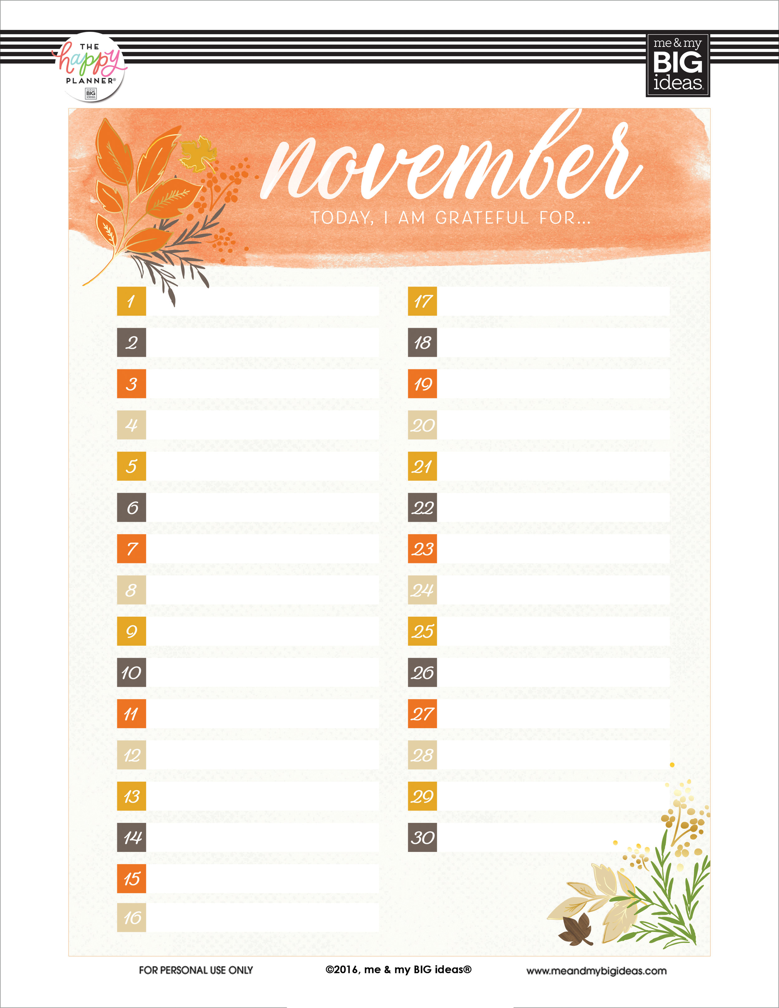 photograph regarding Happy Planner Printable Calendar Pages named Free of charge PRINTABLES me my Large tips