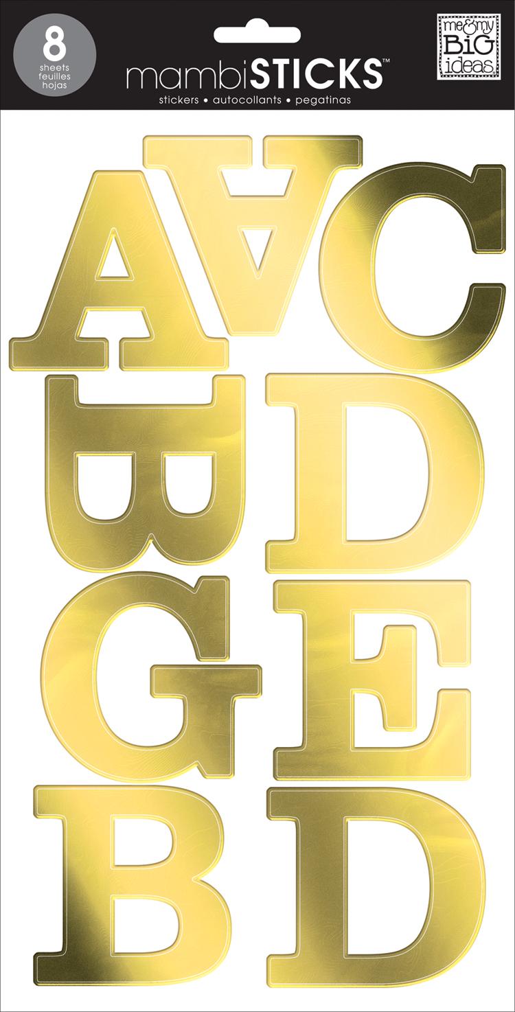 Gold Foil Serif Uppercase mambiSTICKS alphabet stickers | me & my BIG ideas.jpg