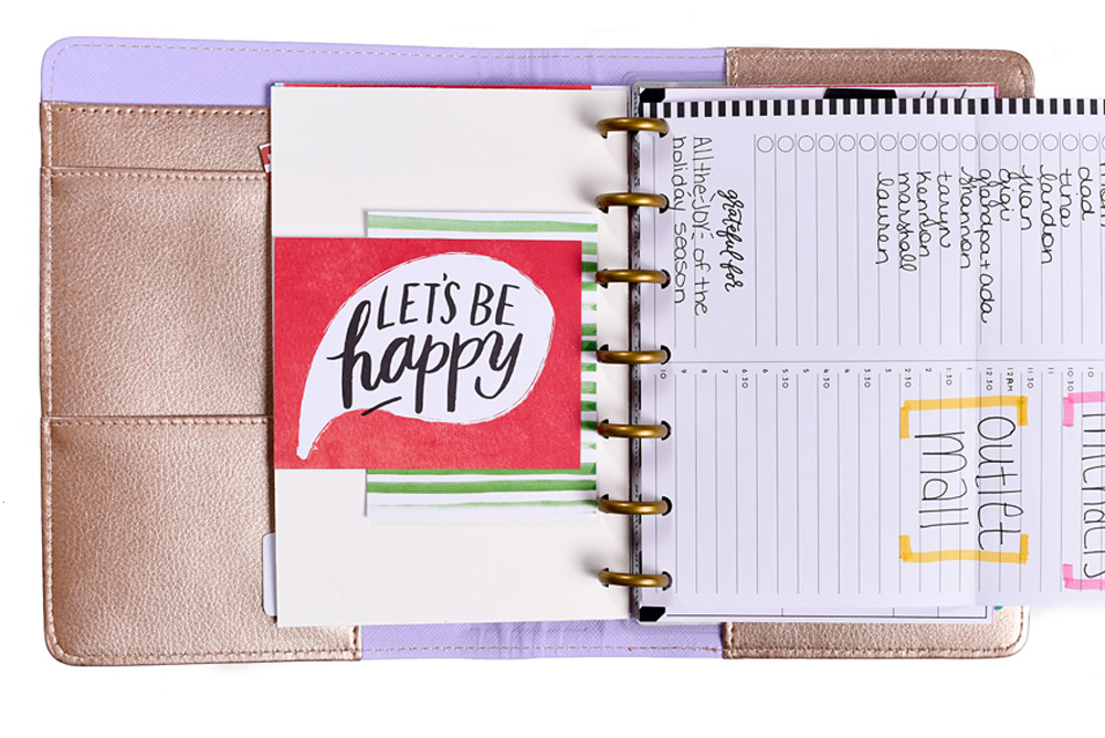 prepping for Black Friday in The MINI Happy Planner™ of mambi Design Team member Mariel Reyes | me & my BIG ideas