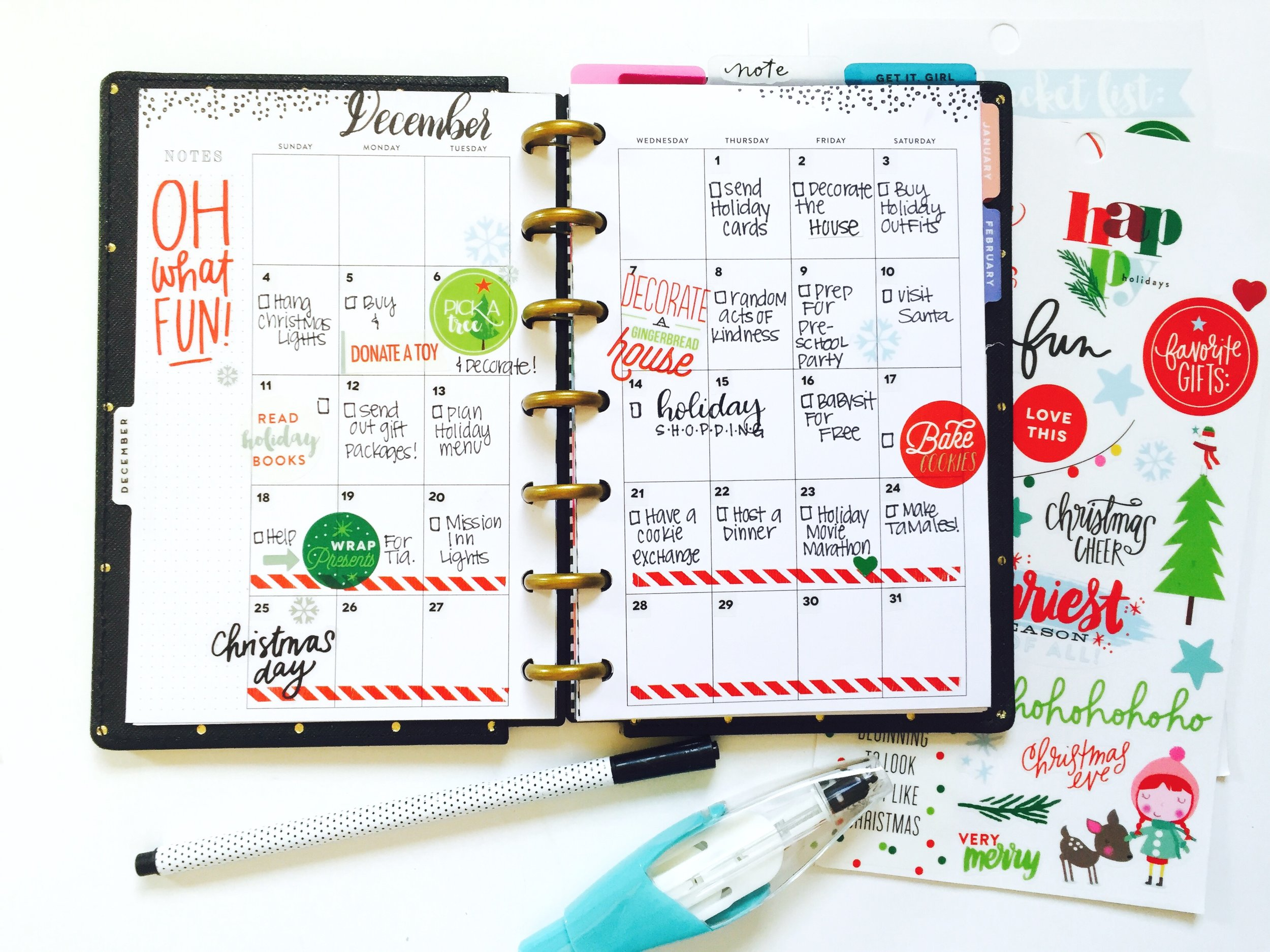 December Bucket List in the MINI Happy Planner™ of mambi Design Team member Marisa Yciano | me & my BIG ideas